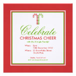 Candy Canes red green Party Invitation