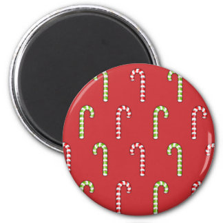 Candy Canes red green pattern Magnet
