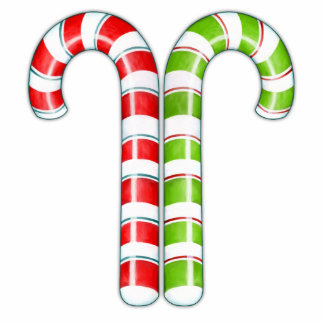 Candy Canes red green Sculpture