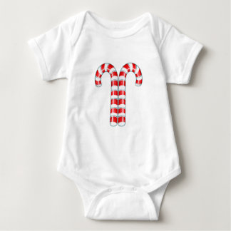 Candy Canes red Infant Baby Bodysuit