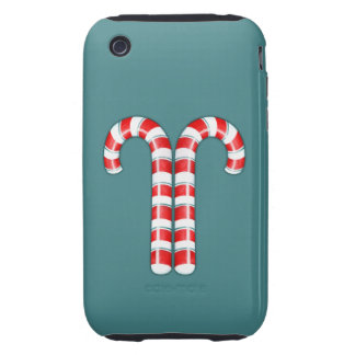 Candy Canes red iPhone 3G Case-Mate Tough iPhone 3 Tough Covers
