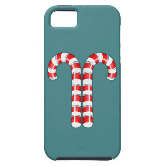 Candy Canes red iPhone 5 Case-Mate Tough™ iPhone 5 Case
