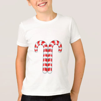 Candy Canes red Kids T-shirt