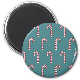 Candy Canes red pattern Magnet