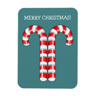 Candy Canes red Premium Magnet