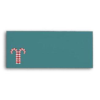 Candy Canes red stripes #10 Envelope envelope