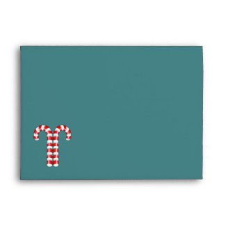 Candy Canes red stripes A7 Envelope envelope