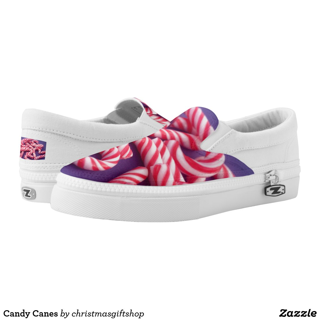 Candy Canes Slip-On Sneakers