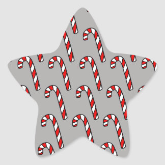 Candy Canes Star Sticker