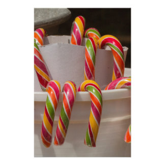 candy canes stationery
