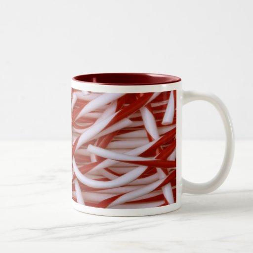 Candy Canes Two-Tone Coffee Mug