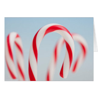 Candy canes up close card