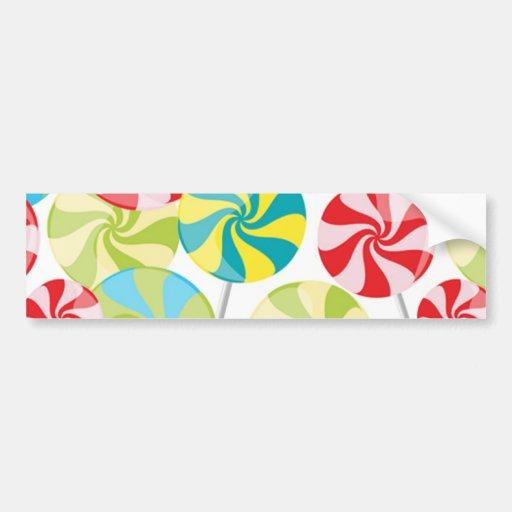 Candy Car Bumper Sticker