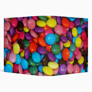 Candy cased choclate buttons Texture Template 3 Ring Binder
