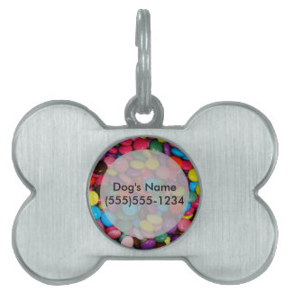 Candy cased choclate buttons Texture Template Pet ID Tag