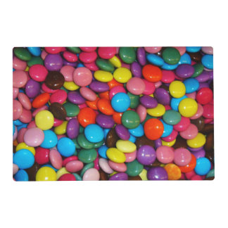 Candy cased choclate buttons Texture Template Placemat