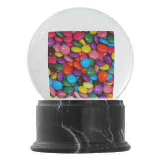 Candy cased choclate buttons Texture Template Snow Globe