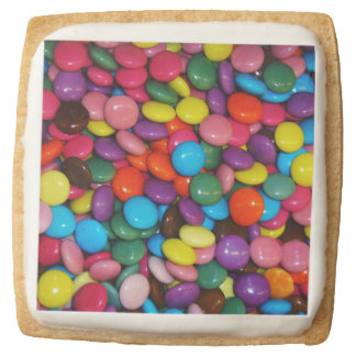 Candy cased choclate buttons Texture Template Square Shortbread Cookie