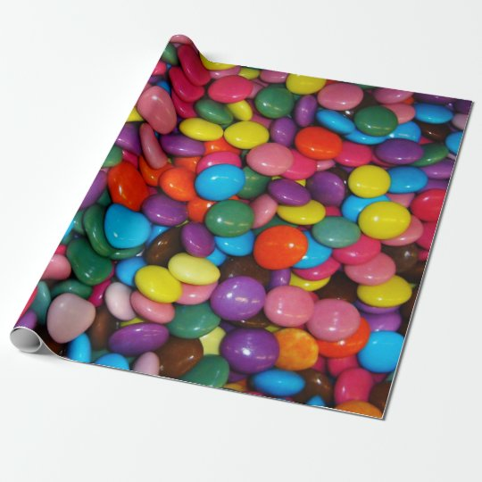 Candy Cased Choclate Buttons Texture Template Wrapping Paper