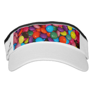 Candy cased choclate buttons Texture Template Headsweats Visor