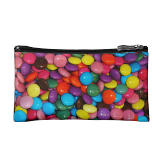Candy cased chocolate buttons Texture Template Makeup Bag