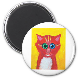 Candy Cat 2 Inch Round Magnet