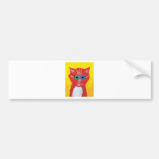 Candy Cat Car Bumper Sticker