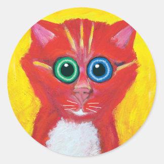Candy Cat Classic Round Sticker