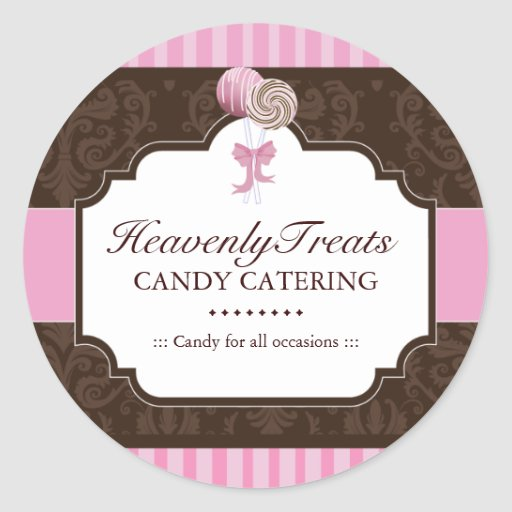 Candy Caterer Packaging Stickers