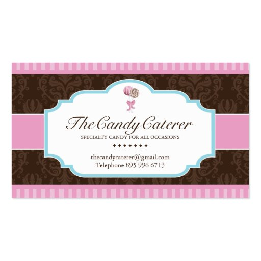 Candy Catering Business Card