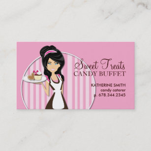 Candy business cards templates zazzle candy catering business cards colourmoves