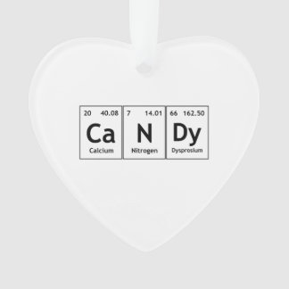 CaNDy Chemistry Periodic Table Words Elements Atom Ornament