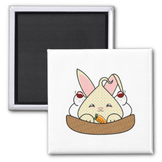 Candy Chip Hopdrop Waffle Sundae 2 Inch Square Magnet