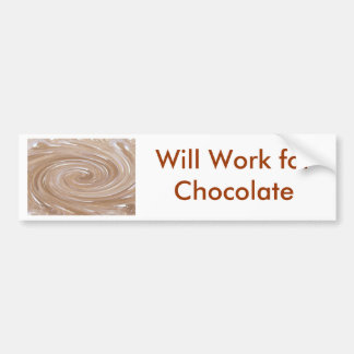Candy Chocolate Lover Malt Swirl Chocoholic Marble Bumper Sticker