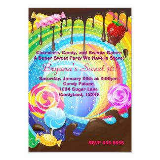 Candy Chocolate Teenage Dream Land Sweet Invite