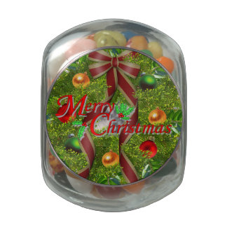 CANDY CHRISTMAS JELLY BELLY CANDY JAR