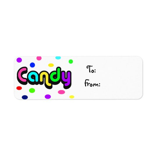 Candy-christmas label