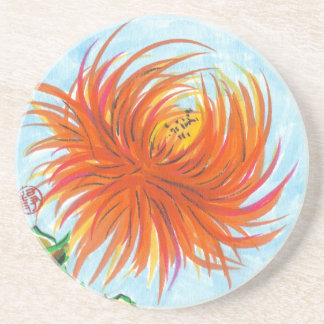 Candy Chrysanthemum Flower Coasters