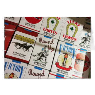 candy cigarettes card