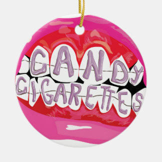 Candy Cigarettes Ceramic Ornament