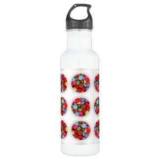candy circle stainless steel water bottle