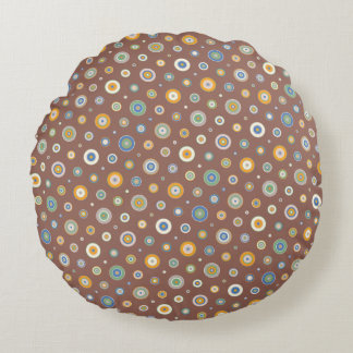 Candy Circles Round Pillow