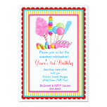 Candy Circus Invitations- with red accent Card