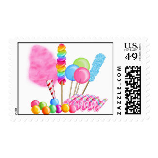 Candy Circus Postage Stamps