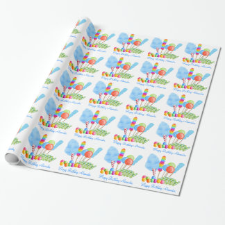 Candy Circus wrapping paper -boys