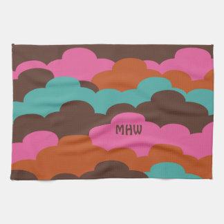 Candy Clouds custom hand towel