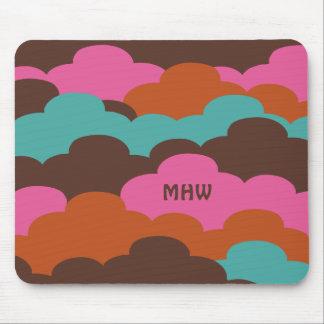 Candy Clouds custom monogram mousepad