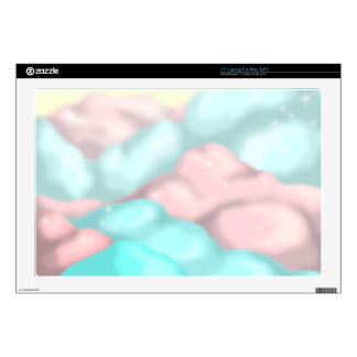 """Candy Clouds Decal For 17"""" Laptop"""
