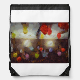 Candy clouds hovering overhead drawstring backpacks