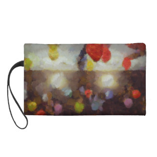 Candy clouds hovering overhead wristlet clutches